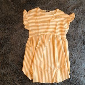 Cute Yellow Babydoll Dress